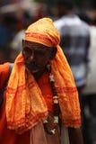 Pune, la India - July 11, 2015: Un viejo peregrino indio Imágenes de archivo libres de regalías
