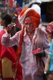 Pune, la India - July 11, 2015: Un viejo peregrino indio Fotografía de archivo