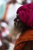 Pune, la India - 11 de julio de 2015: Un retrato de un viejo peregrino indio Imagen de archivo libre de regalías