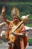 PUNE, MAHARASHTRA, INDIA, July 2015, Warkari dressed as Hanuman, Pandharpur Palkhi. PUNE, MAHARASHTRA, INDIA, July 2015, Warkari dressed as Hanuman at Pandharpur royalty free stock images