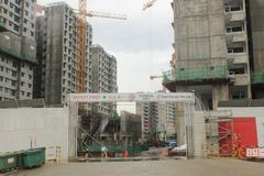 Punggol新加坡,建造场所 免版税库存图片