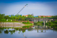 Punggol landscape. This photo was shot in punggol of singapore Royalty Free Stock Images