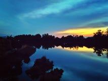 Punggol River at dusk Royalty Free Stock Photos