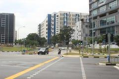 Punggol Singapore, kontorsbyggnader Arkivfoton