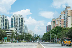 Punggol väg, Singapore Arkivfoto