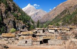 Pungmo village - Lower Dolpo - western Nepal Stock Photography