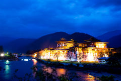 Pungtang Dechen Photrang Dzong Stock Photo