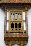 Pungtang Dechen Photrang Dzong o palacio de la gran dicha Ventana tallada Centro administrativo Punakha Dzong fotografía de archivo