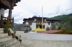 Pungtang Dechen Photrang Dzong o palacio de la gran dicha Visión interna Centro administrativo Punakha Dzong imagen de archivo libre de regalías