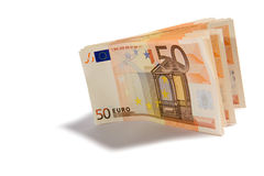 Punhado de 50 euro- cédulas Fotografia de Stock Royalty Free