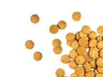Punhado de cookies dispersadas de Pepernoten Foto de Stock