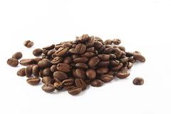 punhado de feijões de café Imagens de Stock Royalty Free