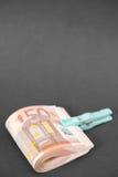 Punhado do dinheiro do Euro imagens de stock royalty free