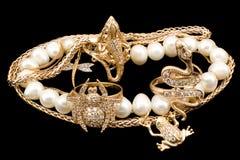 Punhado do ouro Imagens de Stock Royalty Free