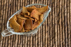 Punhado do pão torrado Fotografia de Stock