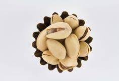 Punhado dos pistaches uma forma figurada Foto de Stock Royalty Free
