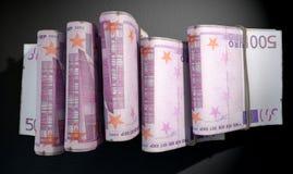 Punhados da obscuridade da pilha das notas Foto de Stock Royalty Free