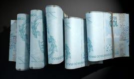 Punhados da obscuridade da pilha das notas Imagem de Stock Royalty Free