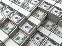 Punhados do dinheiro Imagem de Stock