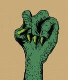 Punho apertado do lagarto verde Fotos de Stock