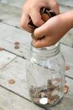 Punho completamente do dinheiro Foto de Stock Royalty Free