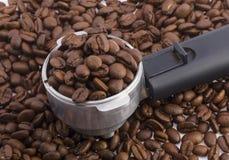 Punho da máquina do café Foto de Stock