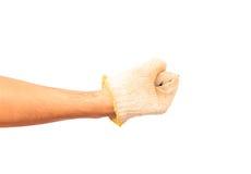 Punho da mão que quebra completamente Imagens de Stock