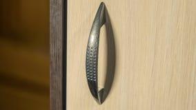 Punho de aço do armário da elegância bonita e brilhante Fotografia de Stock