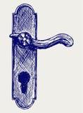 Punho de porta ilustração royalty free