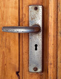 Punho de porta de Grunge fotografia de stock