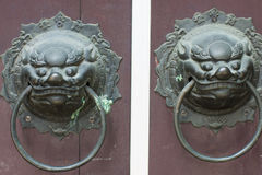 Punho de porta do chinês tradicional Imagens de Stock
