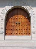 Punho de porta em Jing um templo foto de stock