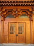 Punho de porta em Jing um templo imagens de stock royalty free