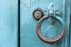 Punho de porta velho Fotos de Stock Royalty Free