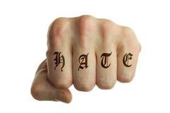 Punho do ódio Imagens de Stock