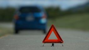 Punho do direito do acidente do problema do carro filme