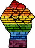 Punho do protesto de LGBT ilustração stock