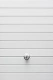 Punho na porta metálica Imagens de Stock Royalty Free