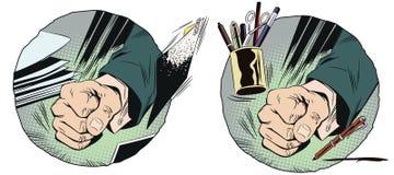 Punho na tabela Ilustração conservada em estoque Imagens de Stock Royalty Free