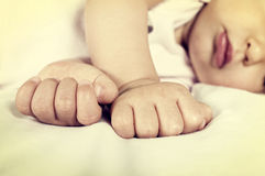 Punho pequeno do bebê fotografia de stock royalty free