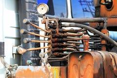 Punhos de controle hidráulicos de Crane Truck Imagens de Stock