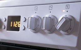 Punhos do ajuste do poder do aquecimento do fogão bonde Fotografia de Stock Royalty Free
