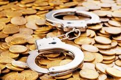 Punhos e moedas da mão Foto de Stock