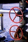 Punhos vermelhos da válvula Imagens de Stock
