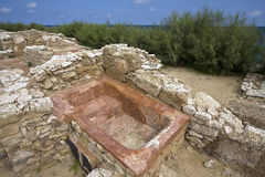 Punic city of Kerkouane Stock Photo