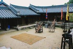 Punish of korea style. Old lifestyle of the korea. Punish of korea style Photo taken on: August 03rd, 2014 stock photography