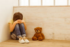 Punished little boy Royalty Free Stock Images