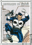 Punisher. GUINEA - CIRCA 1999: stamp printed by Guinea, shows Punisher, circa 1999 royalty free stock photos