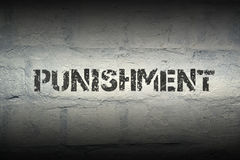 Punishment GR. Punishment stencil print on the grunge white brick wall Stock Images