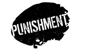 Punishment rubber stamp Royalty Free Stock Image